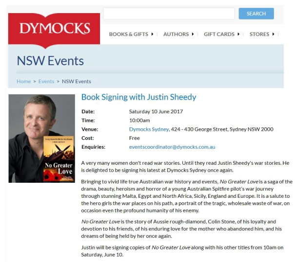 Dymocks Sydney 10 June 2017