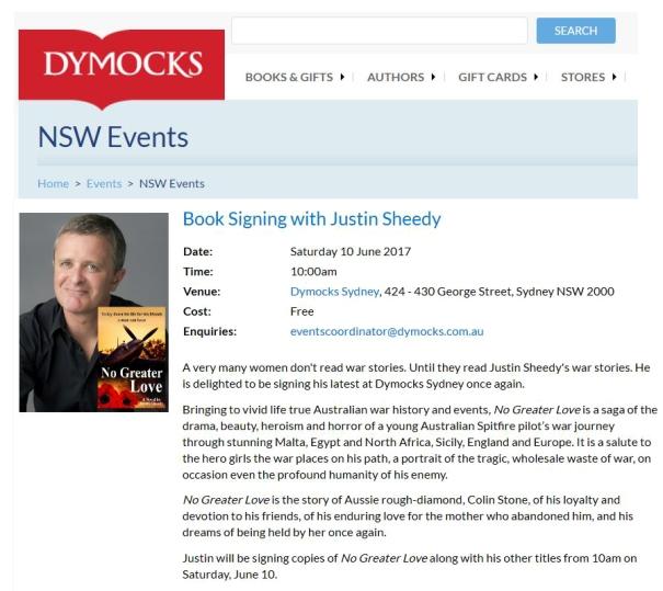 Dymocks Sydney 10 June 2017