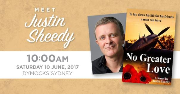 Justin Sheedy Dymocks 10 June 2017